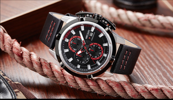 MEGIR Men Quartz Sport Wristwatch   Chronograph Military Army Wristwatches Men Top Brand Luxury Creative Wristwatch Men