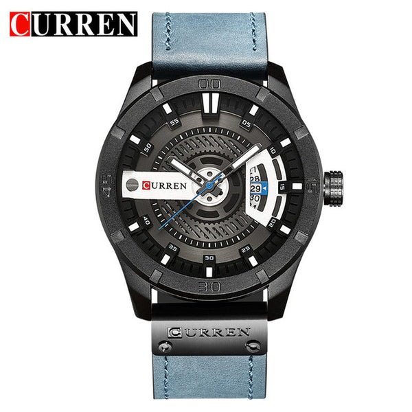 CURREN Date Men Wristwatch New Top Luxury Brand Sport Military Army Business Male Leather Quartz  Mens Wristwatches Gift 8301