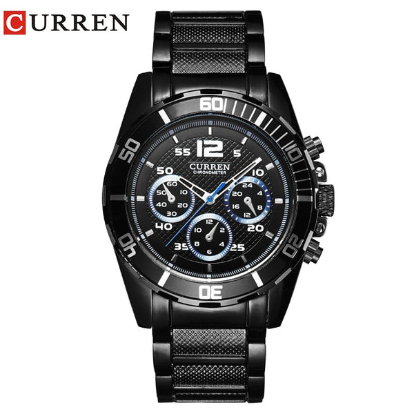 CURREN New Men's Business Fashion Curren Brand  Men  Casual  Wrist Quartz Wristwatch  8073