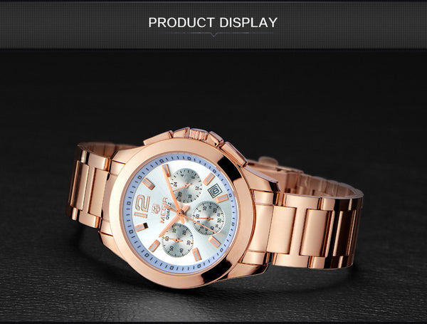Creative MEGIR Sport Wristwatch Men Top Brand Luxury Rose Gold Chronograph Quartz Men Military Wrist Wristwatches