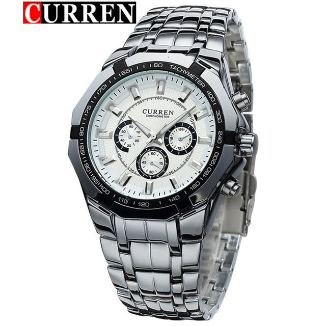 New CURREN Wristwatches Men Top Luxury Brand Hot Design Military Sports Wrist watches Men Digital Quartz Men Full Steel Wristwatch