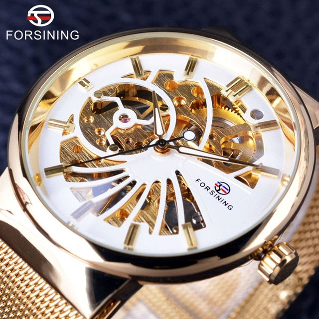 Forsining Fashion Luxury Thin Case Unisex Design Waterproof Mens Samll Dial Wristwatches Top Brand Luxury Mechanical Skeleton Wristwatches