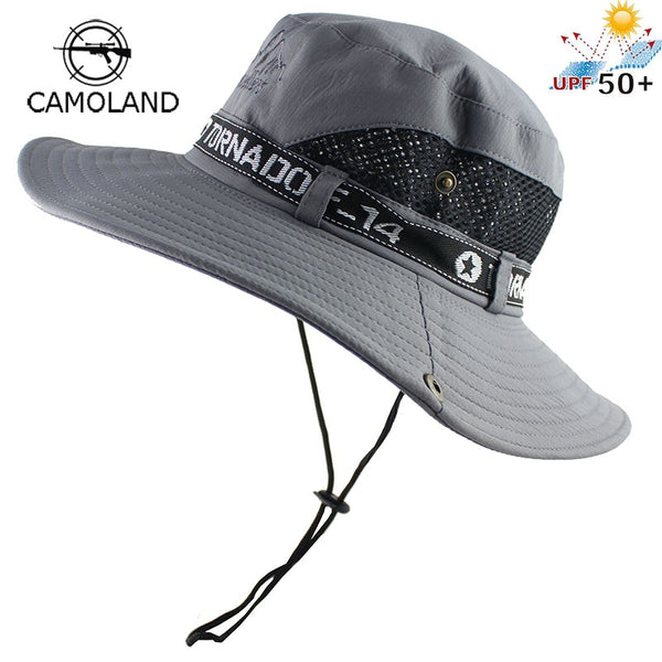 UPF50+ Sun Hat Men Mesh Bucket Hat Women Summer Fishing Hiking Hat Wide Brim UV Protection Flap Hat Breathable Beach Hat Outdoor