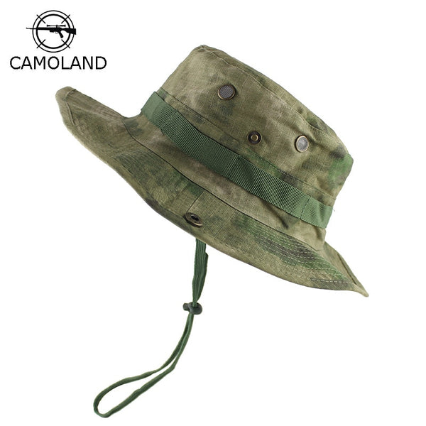 Tactical Airsoft Sniper Camouflage Boonie Hats Nepalese Cap Militares Army Mens Military Hiking Hats Summer Bucket Fishing Hat