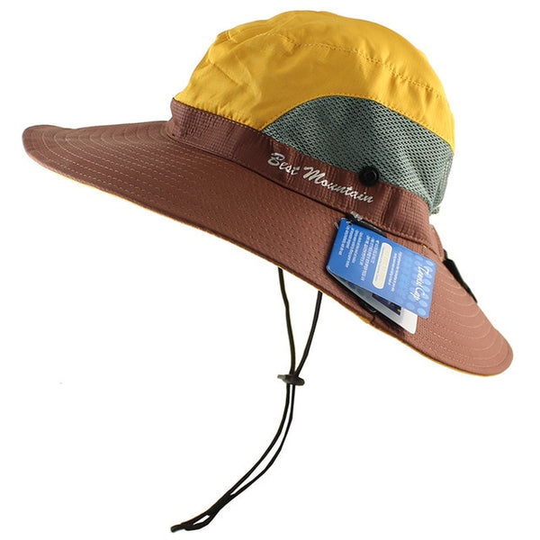 Waterproof UPF 50+ Sun Hat Bucket Summer Men Women Fishing Boonie Hat Sun UV Protection Long Large Wide Brim Bob Hiking Outdoor