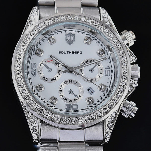 SOUTHBERG watches Luxury famous brand DATE rhineston Wristwatches women female