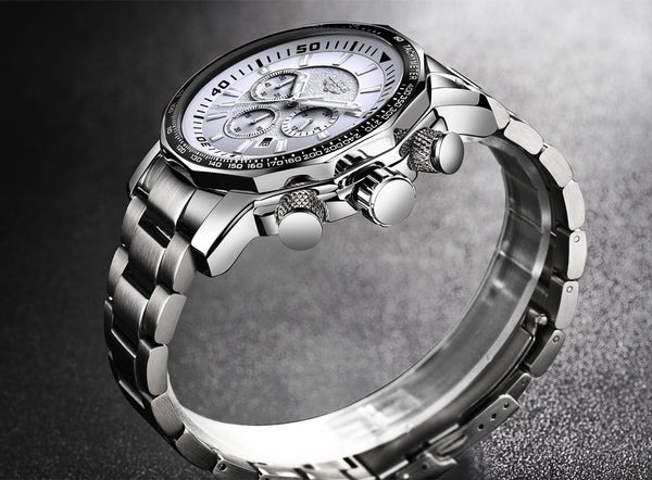 es   New LIGE Fashion Mens Wristwatches Luxury Brand Business Quartz Wristwatch Men Sports Waterproof Big Dial Male Wristwatch