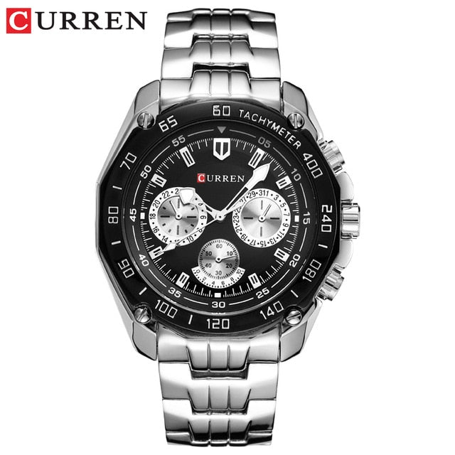 Fashion Curren Luxury Brand Man quartz full stainless steel Wristwatch Casual Military Sport Men Dress Wristwatch Gentleman  New