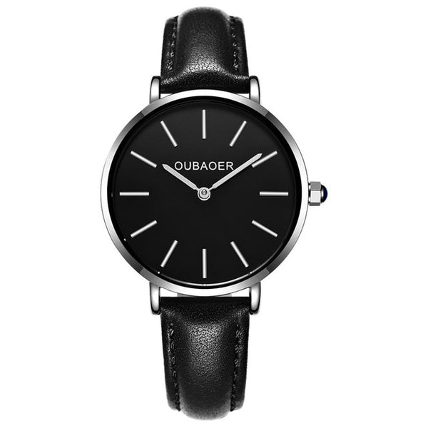 New Lady Fashion Wristwatch Women OUBAOER Elegant Wristwatch Quartz women wrist watch dress o Montre Femme