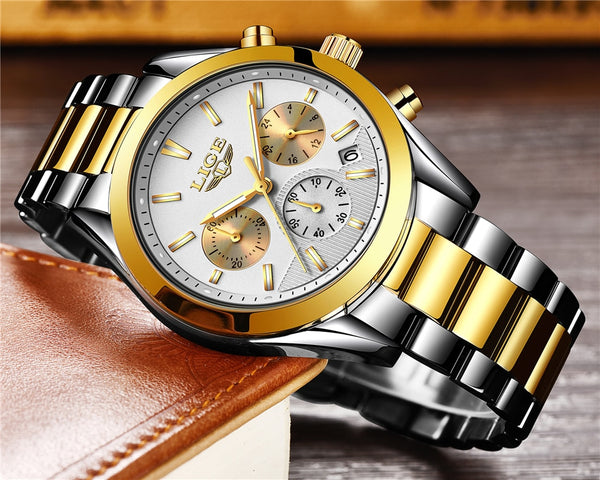 Relojes Hombre 2018 New LIGE Mens Watches Top Brand Luxury Full Steel Business Quartz Watch Men Military Sport Waterproof