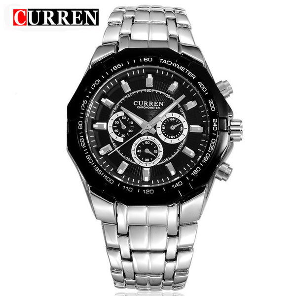 Top Brand Luxury Wristwatch CURREN Casual Military Quartz Sports Wristwatch Full Steel Waterproof Men's