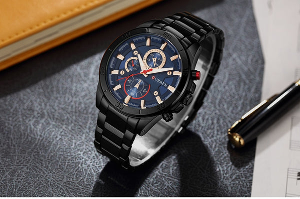 NEW CURREN Wristwatches Men Top Brand fashion quartz watch male   Male Army Military Sports Analog Casual