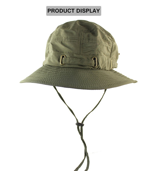 UPF 50+ Beach Hat Bucket Hat Men Women Boonie Hat Summer UV Protection Military Army Hiking Tactical Outdoor Sun Hat Fishing