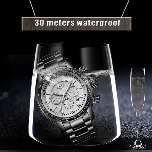 Masculin Mens Wristwatches Big Dial Military LIGE Chronograph Top Brand Luxury Fashion Men Waterproof Sport Quartz Wristwatch