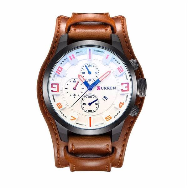 CURREN Luxury Brand Analog sports Men Wristwatches Fashion Creative Quartz Leather Strap Wristwatch Date Male Reloj Hombre