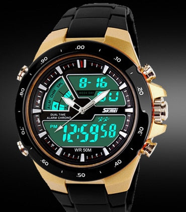 Skmei Men Sport Wristwatches Military Casual Sports Men's Wristwatch Quartz-Wristwatch Waterproof Silicone  Male S Shock