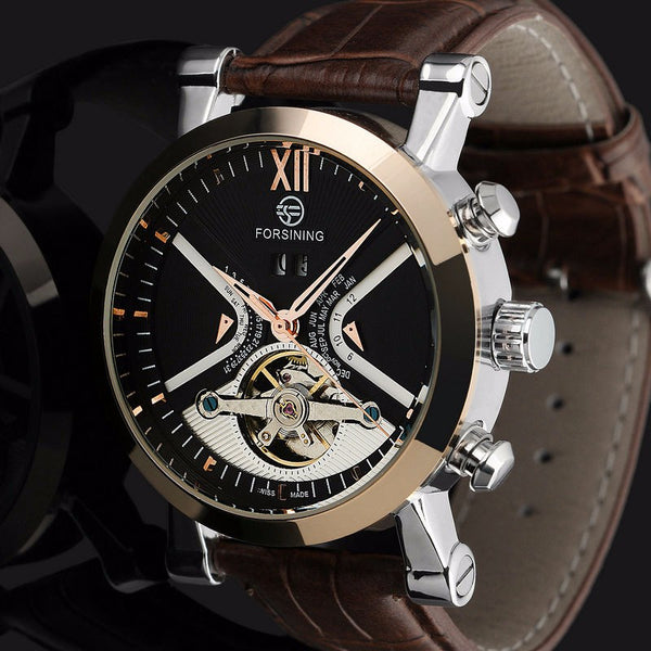 Top Luxury Brand Gold Stainless Steel Wristwatch Tourbillon Automatic Mechanical Steampunk Wristwatches men Casual Wristwatch male Relogios