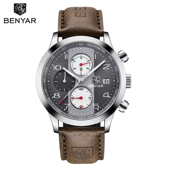 Top Luxury Brand Men Sport Wristwatches Quartz Chronograph Business Waterproof Wristwatches Male Wristwatch Wristwatches Men  BENYAR