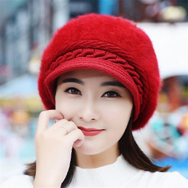 jiangxihuitian Hot ball cap winter hat  women hat girl knitted hats skullies beanies