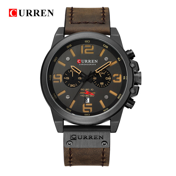 Mens Wristwatches Top Brand Luxury Men Military Sport Wristwatch Leather Quartz Wristwatch erkek saat curren 8314