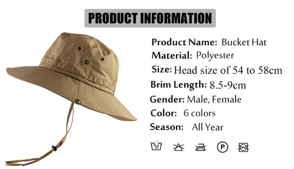 UPF50+ Sun Hat Women Men Mesh Bucket Hat Summer Fishing Hiking Cap Wide Brim UV Protection Flap Hat Breathable Beach hat Outdoor