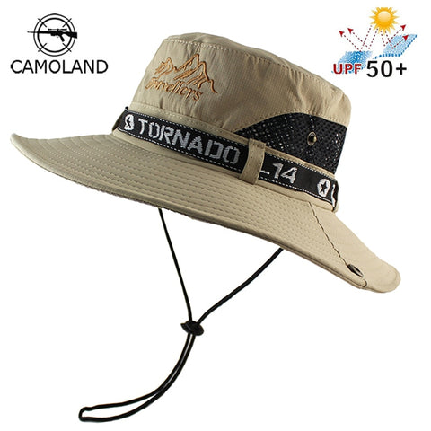 UPF 50+ Sun Hat Bucket Summer Men Women Fishing Boonie Hat Sun UV Protection Long Large Wide Brim Mesh Hiking Outdoor Beach Hat
