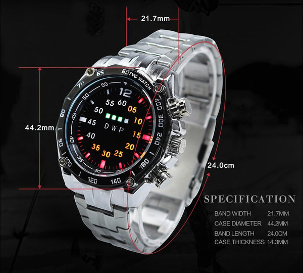 New Luxury TVG Men's Wristwatch Stainless Steel LED Sport Wristwatches Casual Wrist Wristwatch Wristwatch Relogios Masculino