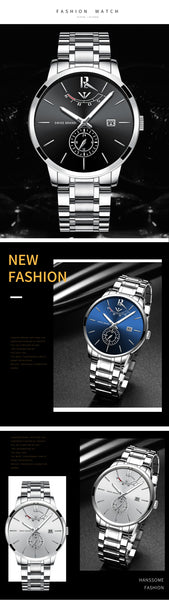 NIBOSI   es  Gold Wristwatch Mens Wristwatches Top Brand Luxury Sport Quartz Wristwatch Business Waterproof Wristwatch
