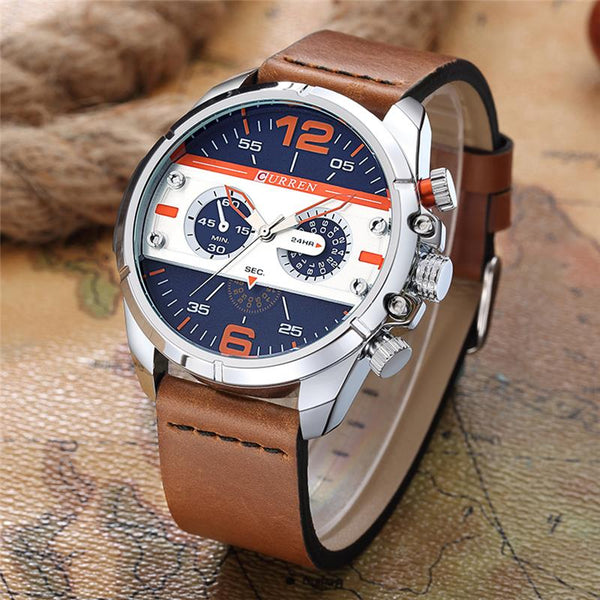 new men watches top brand luxury sports military wristwatches fashion casual quartz watch water Resistant CURREN 8259
