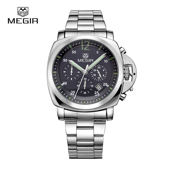 Megir 3006 luxury business quartz watch men waterproof wristwatch stainless steel strap men's fashion watches free shipping
