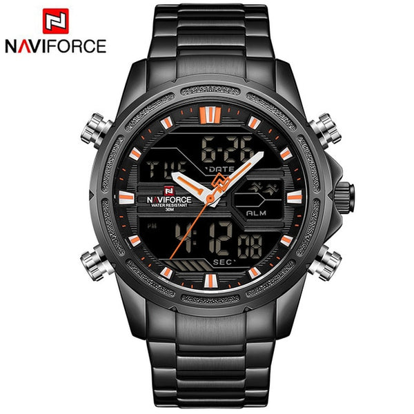Man Stainless Army Military Wrist Wristwatch NAVIFORCE Luxury Brand Men Wristwatch Fashion Sports Wristwatches Men's Waterproof Quartz Wristwatch