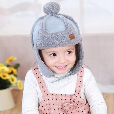 COKK Kids Winter Hats For Girls Boys Children Ear Protect Plush Velvet Russian Hat Snow With Pompom Knitted Cap New Warm