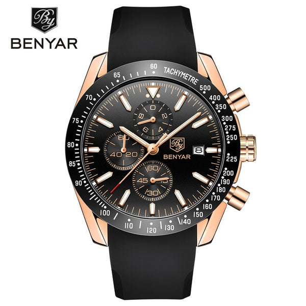 BENYAR Wristwatch Men Top Brand Luxury Chronograph Wristwatch Fashion Blue Waterproof
