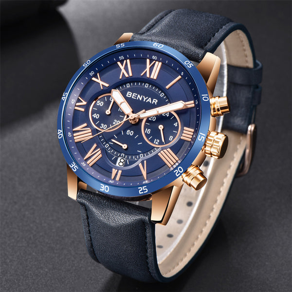 BENYAR Wristwatches Men Luxury Brand Quartz Wristwatch Fashion Chronograph Sport Reloj Hombre Wristwatch Male hour relogio Masculino