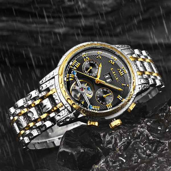 2019 New LIGE Wristwatches Men  Automatic Mechanical Wristwatch Stainless Steel Waterproof