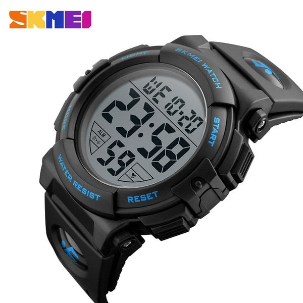 SKMEI Fashion Outdoor Sport Wristwatch Men Multifunction Wristwatches Military 5Bar Waterproof Digital Wristwatch  1258
