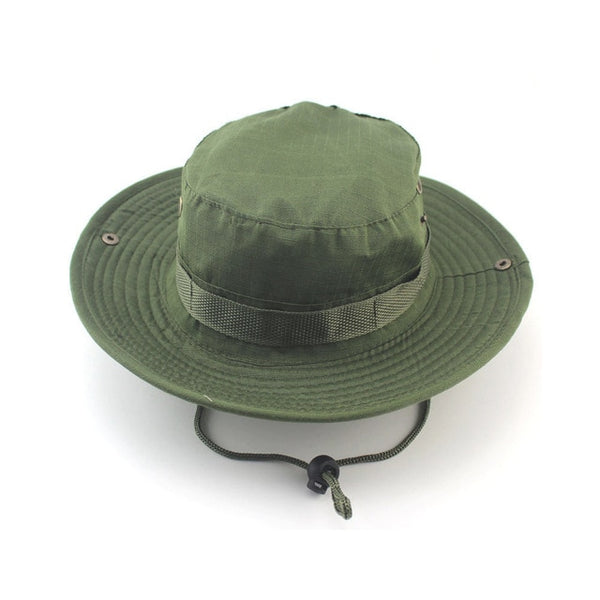 Summer Camo Fisherman Casual Bucket Camping Hiking Travel fishing mountaineering sombrero sunshade Bonnie hat For women men
