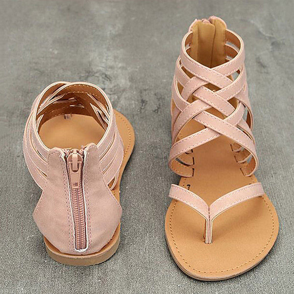 Women Sandals Plus Size Gladiator Sandals For Beach Summer Shoes Woman Rome Flat Sandals Soft Flip Flop Female Summer Sandals 43