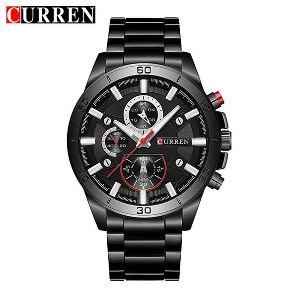CURREN New  Top Brand Luxury Wristwatch Men   Sport Waterproof Quartz Wristwatch Fashion Casual Alloy Men Wristwatches