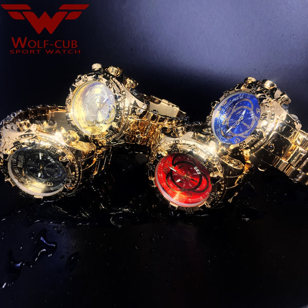 WOLF-CUB Men Wristwatches Quartz Wristwatch Wristwatches Men Military Luxury Brand Wristwatches