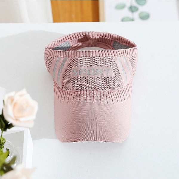 Outdoor Women's Casual Trip Travel Sun Visor Caps Knitted Hats Sport Topless Empty Exposed Sunshade Beach Casquette Golf Hat