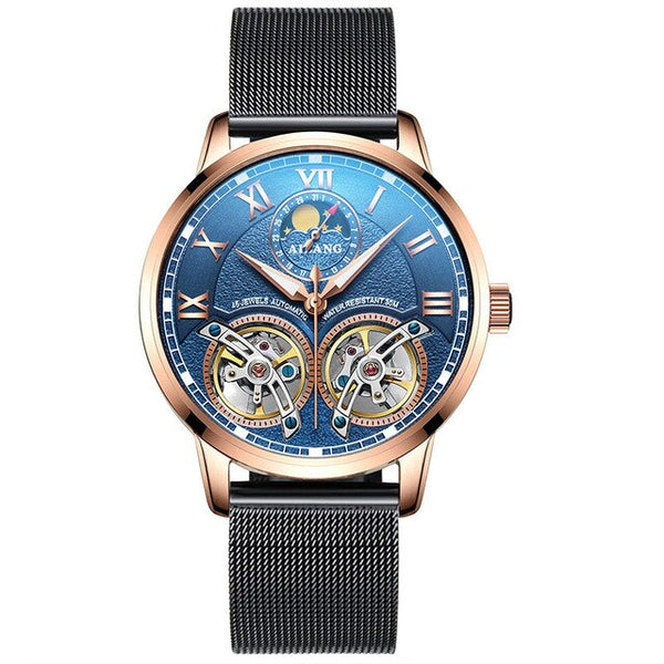 AILANG top luxury brand men's automatic watch quality business waterproof expensive double tourbillon mechanical watches fashion