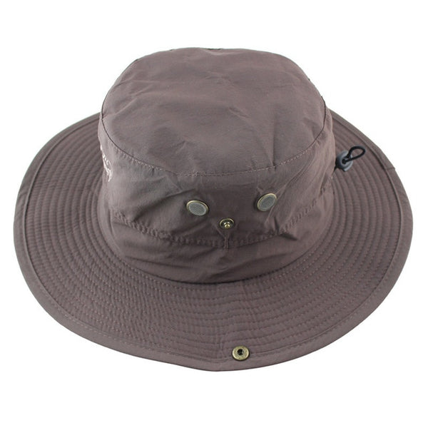 Summer Waterproof Sun Hat Men Women Bucket Boonie Hat Outdoor UV