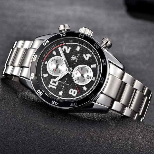 BENYAR Men's Wristwatches  New Top Luxury Brand Men Quartz Wristwatches Chronograph Business Wristwatch Men