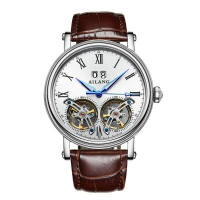 AILANG top brand High Value Double Tourbillon Switzerland WristWatches AILANG Original Top Luxury Men's Automatic Man Mechanical watch