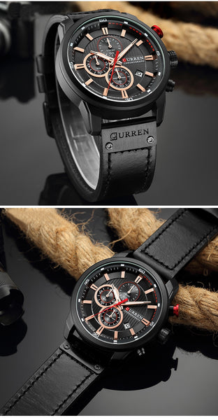 CURREN Luxury Brand Men Analog Leather Sports Wristwatches Men's Army Military Wristwatch Male Date Quartz Clock