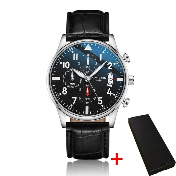 Fashion Men's Quartz Chronograph Wrist Watch Stainless Steel Sport Watch Waterproof Watch for Men Male Relogio Masculino