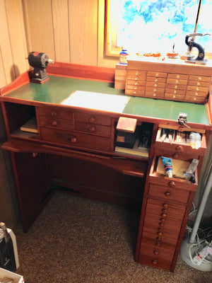 Beautiful Watchmakers or Jewelers Work Bench.