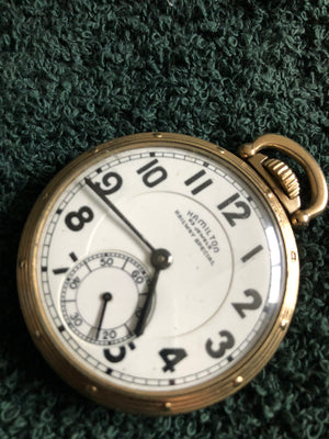 Hamilton 950B RR Grade Pocket Watch.