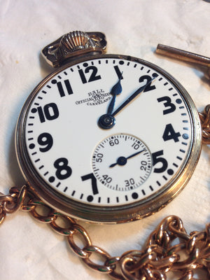 Ball Hamilton Railroad Grade 16 Size Pocket Watch